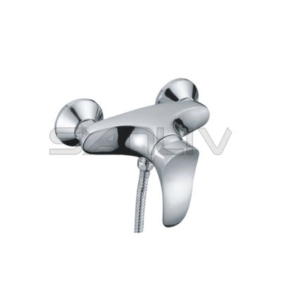 Single lever bathroom shower faucet with 40mm ceramic cartridge