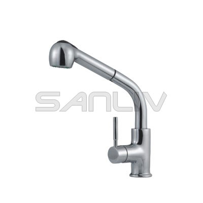 Single Handle one hole kitchen mixer faucet with spray head