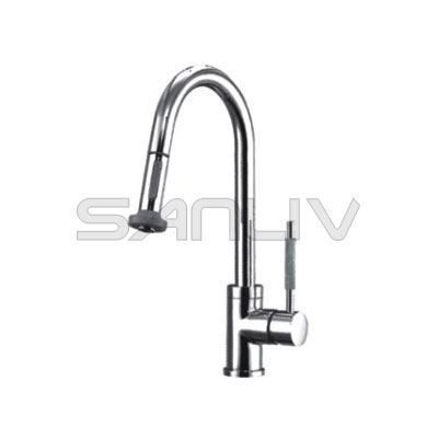 Single Handle Pull Out Spray Kitchen Mixer Faucet-28108