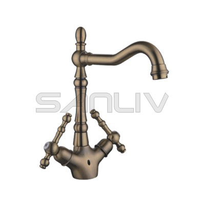 Antique Brushed Bronze Bathroom Basin Faucet