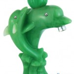 Dolphin Lavatory Faucet in Green Stone Material