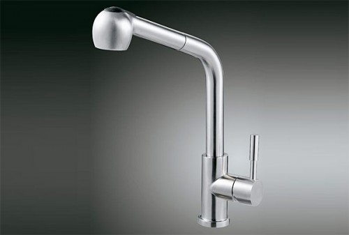 Stainless Steel Lead Free Kitchen And Bath Faucets Pull Out Spray Kitchen Faucet
