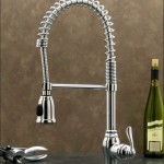 Chrome Pull Down Kitchen Sink Faucet W/Hand Spray Head-Hose