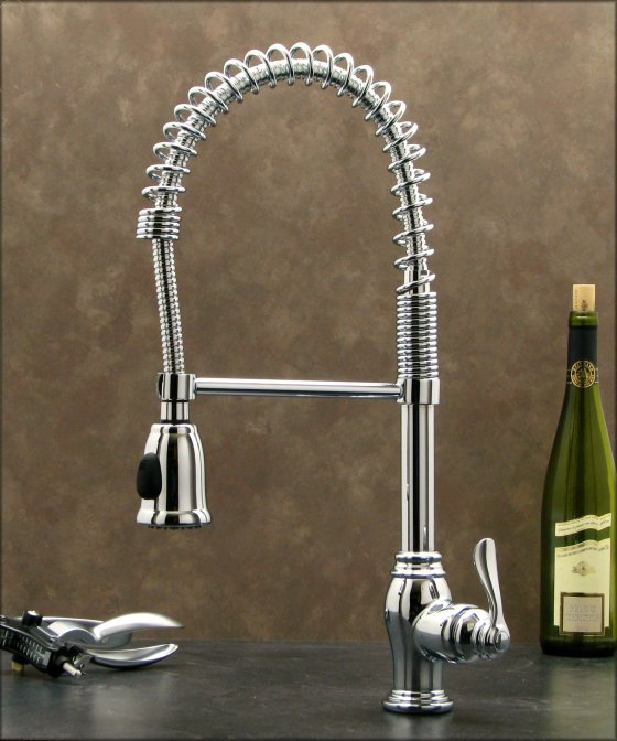 New pull down spray kitchen sink faucet chrome - Shower head for kitchen sink ...