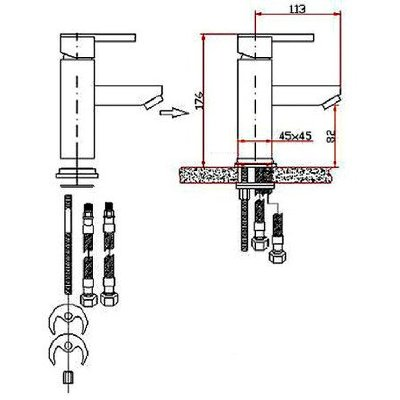 Bathroom Fixtures on Bain Mixer Tap Or Bathroom Sink Faucet Installation Drawings
