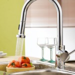 Single handle wall mount kitchen faucet with spray hose