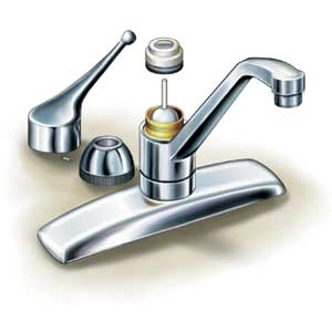 Fixing a Leaky Bathroom Sink Faucet: Ball-type Faucets Repair ...
