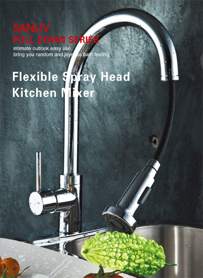 Pull Down Kitchen Faucet Spray