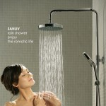 Beautiful Lady under Romatic Rain Bath Shower Picture