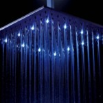 Bathroom Colour Changing LED Rain Shower Head Light