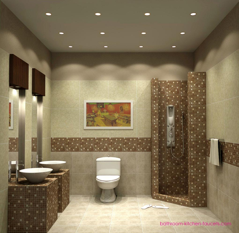 Decoration For Bathroom Tile : Small bathroom decorating