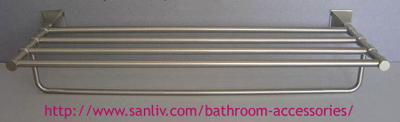 Brushed Nickel Towel Shelf Bathroom Accessories