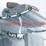 Sanliv Towel Bar Shelf with Double Robe Hooks