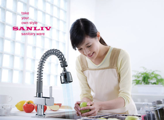 Single Handle Kitchen Faucet Spray and Material