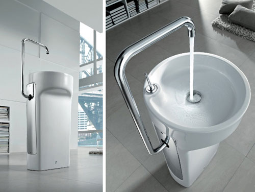 Roca Amberes Space Saver Wash Basin photo