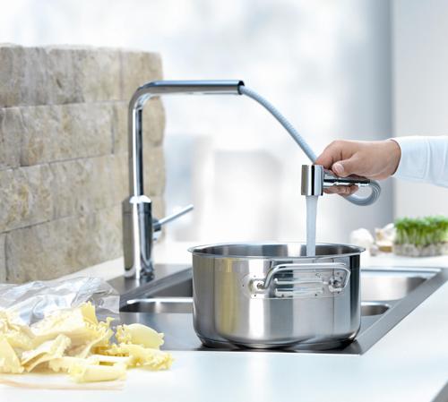Pullout Kitchen Faucet | Kludi L Ine Telescopic Pull Out Kitchen Faucet Best Kitchen
