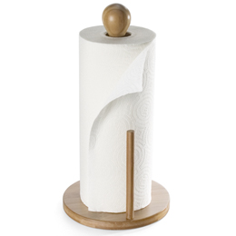 Bamboo Paper Towel Roll Holder Environmentally Friendly Photo