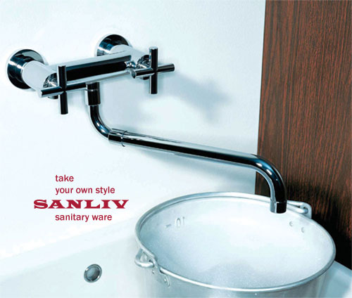 Wall Mounted Kitchen Sink Faucet Picture