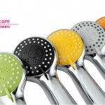 Fashion Hand Held Shower Heads with Colored Shower Panels
