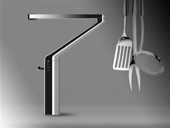 Contemporary Zoom Kitchen Faucet by Nilo Gioacchini
