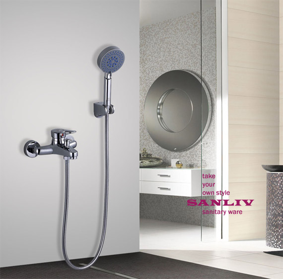wall mounted single handle shower mixer taps