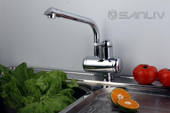 Electric Instant Wam Water Kitchen Faucet