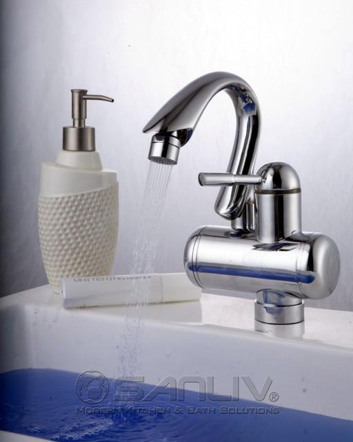 Electric Instant Hot Water Bathroom Washbasin Faucet