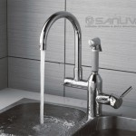 Two Handle Kitchen Mixer Tap with Pull Out Spray and Swivel Spout