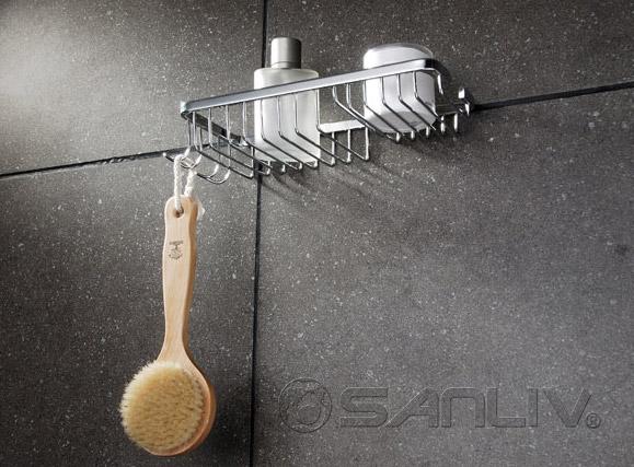 Amazoncom HOMEIDEAS Shower Caddy Corner Shower Basket