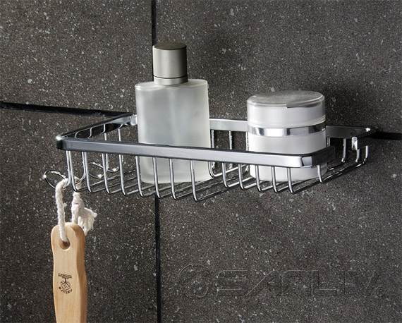 Wall Mounted Wire Baskets and Shower Caddy