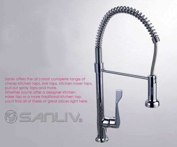 Stylish Pull Out Spray Kitchen Mixer Taps in UK and Germany Photo