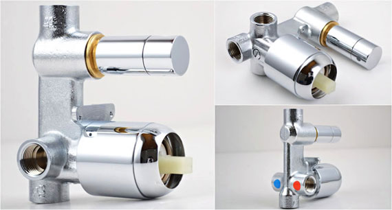 concealed bath shower valve