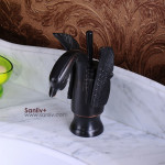 Oil Rubbed Bronze Swan Style Bathroom Sink Faucet