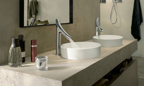 Which Duravit wash basin matches Hansgrohe Faucets