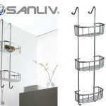 Over-Glass-Door Basket Shower Caddy Shelf