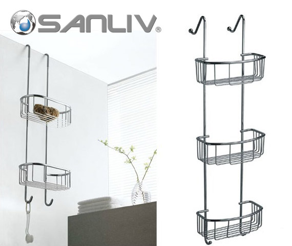 Over Glass Door Basket Shower Caddy Shelf
