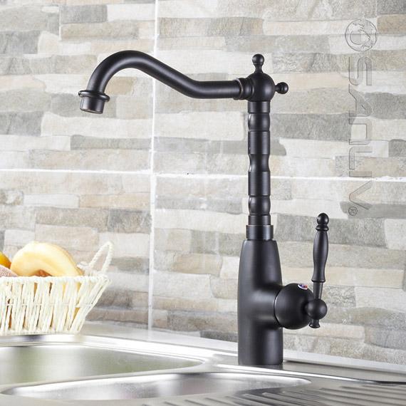 Single Handle Oil Rubbed Bronze Centerset Kitchen Sink Faucet