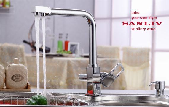 Best Triflow Kitchen Faucet with RO water by SANLIV