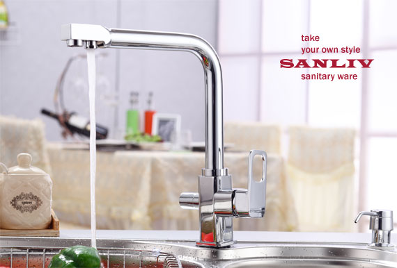 Best Chrome Triflow Kitchen Faucet Plus RO Tap