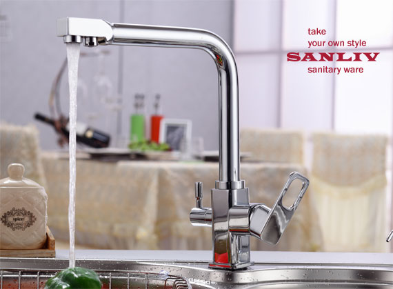 Best Triflow Kitchen Faucet with RO water by SANLIV | Best Kitchen ...