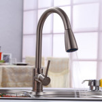 Brushed Nickel Single Handle Pull Out Kitchen Faucets