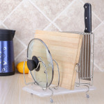 Pot Lid Chopping board and Knife Holder Shelf