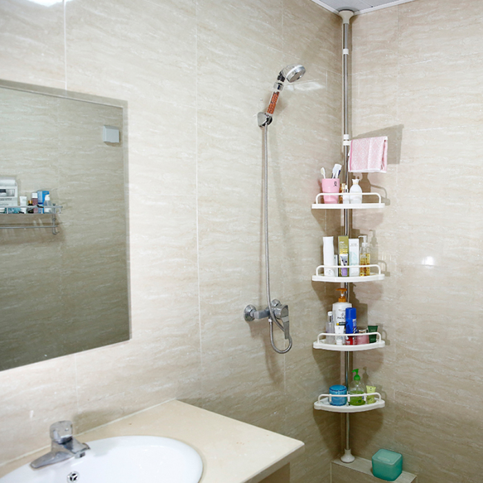Corner Shower Shelves Unit Perfect For Small Bathroom