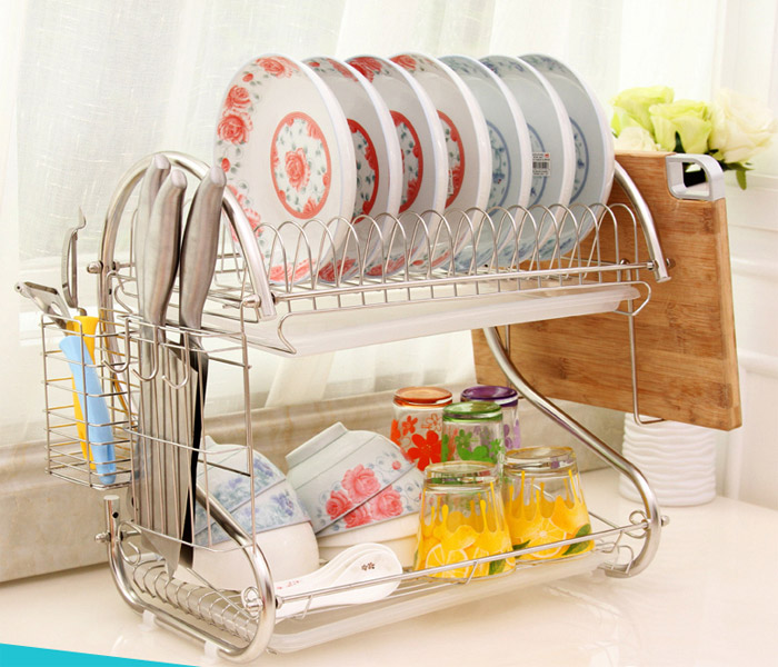 Superbe Kitchen Knife Rack And Plate Shelf