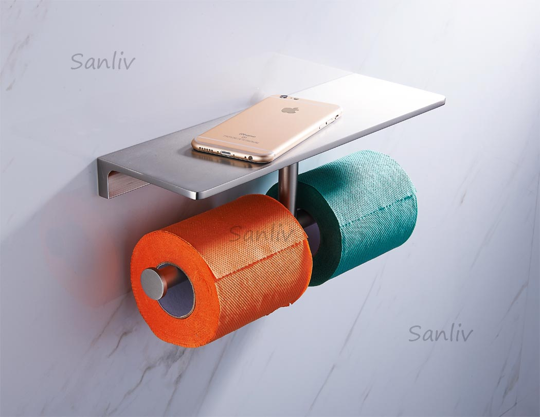 Twin roll toilet tissue paper holder